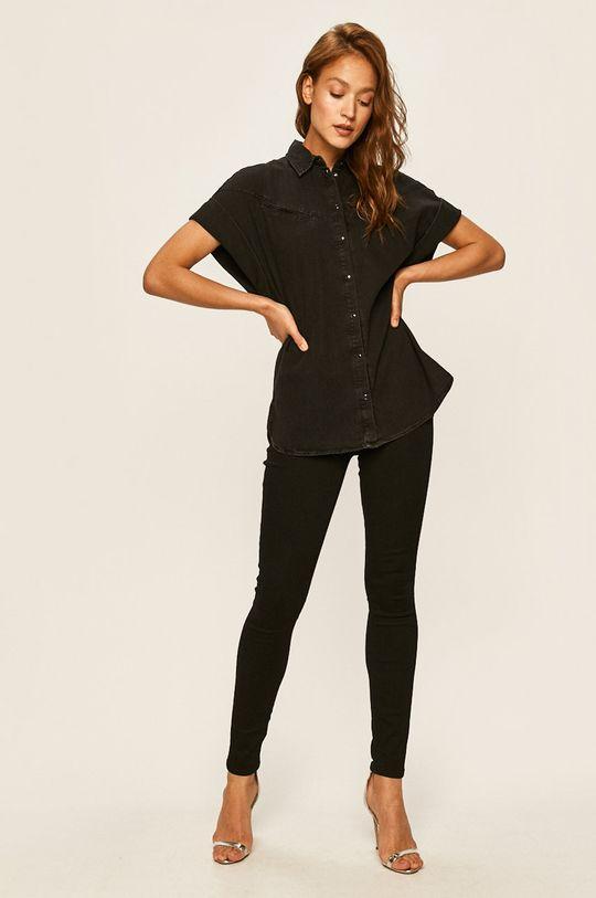 Guess Jeans - Džínová košile černá