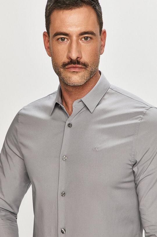 szary Calvin Klein Jeans - Koszula Męski