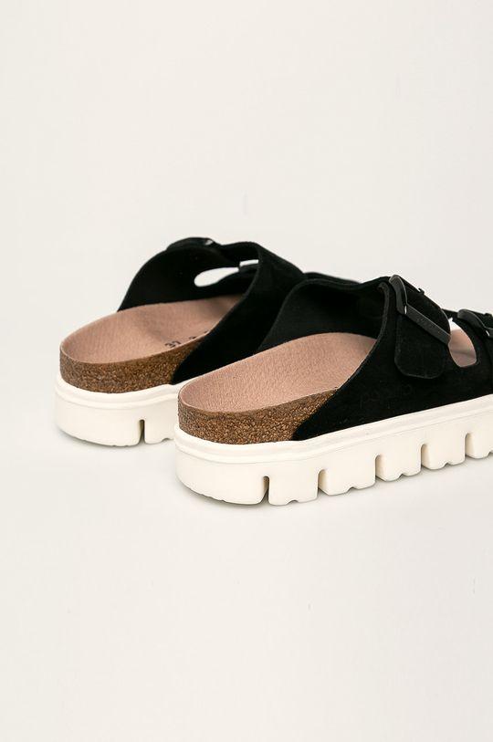 Papillio - Kožené pantofle Arizona černá