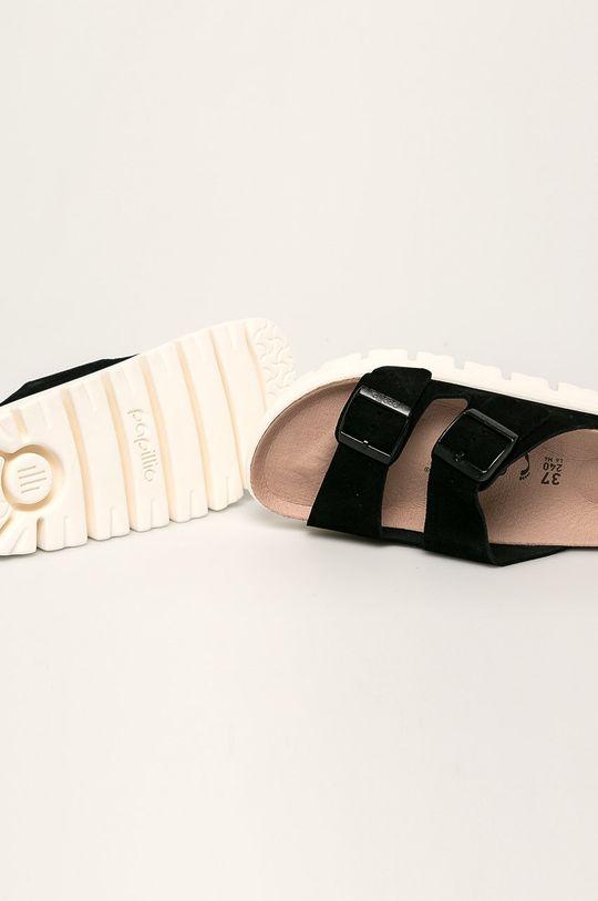 černá Papillio - Kožené pantofle Arizona