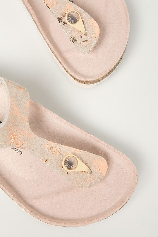 pastelová ružová Birkenstock - Kožené žabky Gizeh