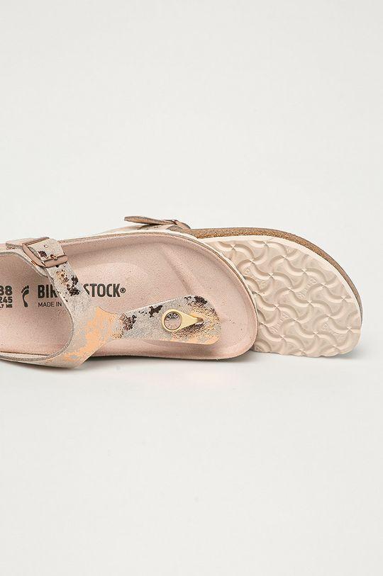 Birkenstock - Kožené žabky Gizeh VL  Svršek: Semišová kůže Vnitřek: Přírodní kůže Podrážka: Umělá hmota