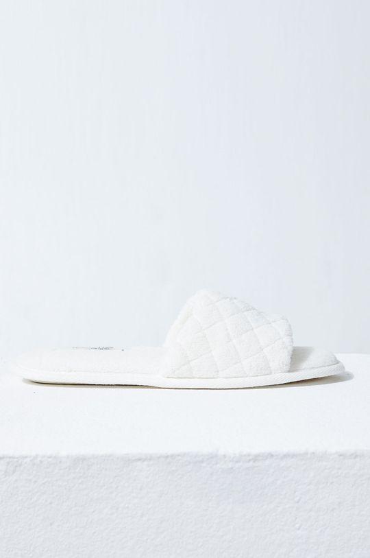 biały Etam - Kapcie Suite Damski