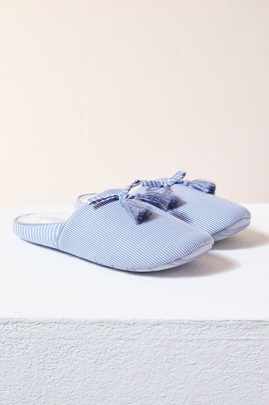 Etam - Kapcie STRIPES niebieski