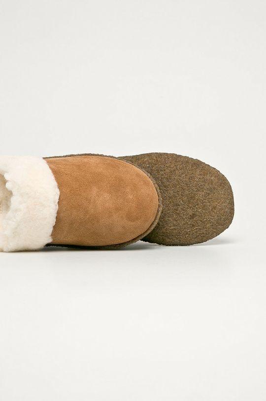 Sorel - Kapcie zamszowe Nakiska Slide II Cholewka: Skóra zamszowa, Wnętrze: Materiał tekstylny, Podeszwa: Materiał syntetyczny