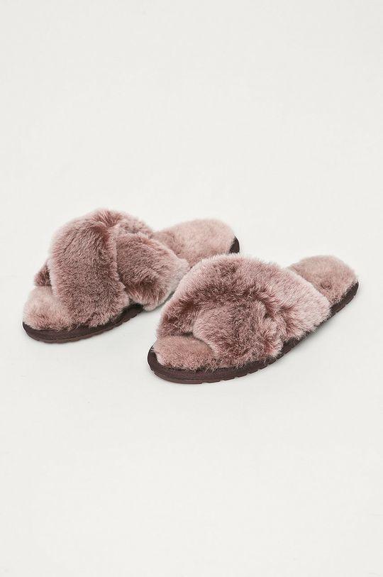 Emu Australia - Klapki skórzane Mayberry Frost ciemny fioletowy