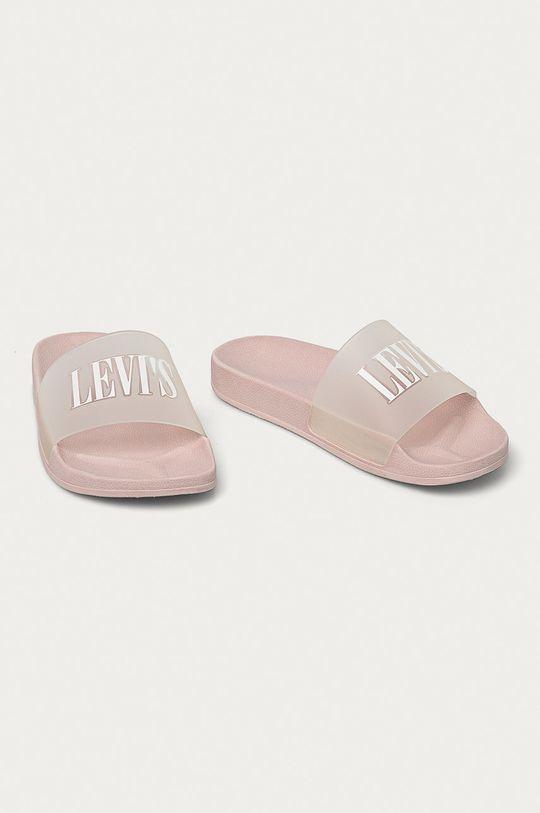 Levi's - Pantofle pastelově růžová