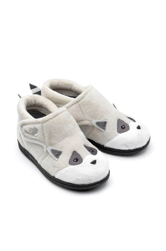 šedá Chipmunks - Dětské papuče Rocco Dětský