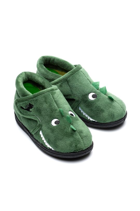 tlumená zelená Chipmunks - Dětské papuče Danny Dětský