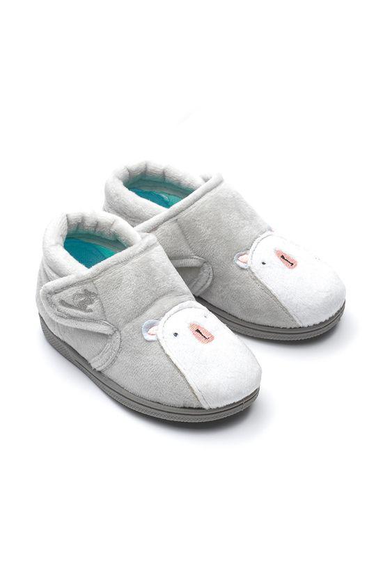 šedá Chipmunks - Dětské papuče Arctic Dětský