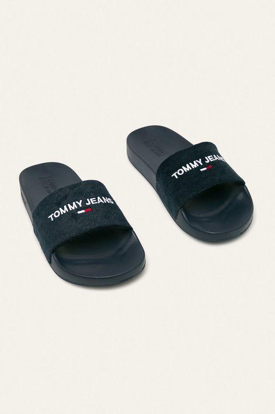 Tommy Jeans - Šľapky tmavomodrá