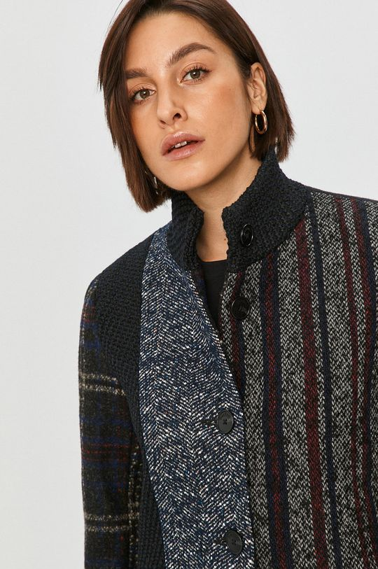 viacfarebná Desigual - Kabát