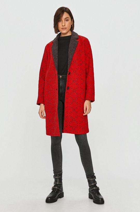 červená Desigual - Kabát Dámský