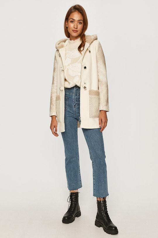 Desigual - Kabát bílá