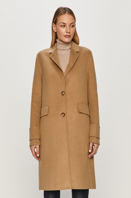 béžová Calvin Klein - Kabát Dámský