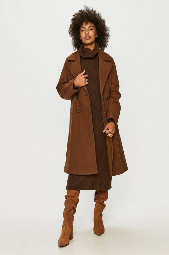 Vero Moda - Płaszcz brązowy