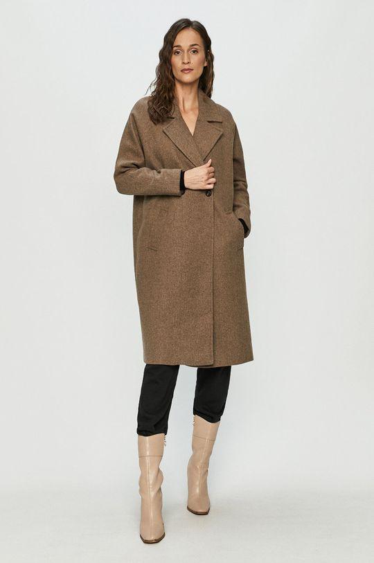 Vero Moda - Płaszcz ciemny brązowy