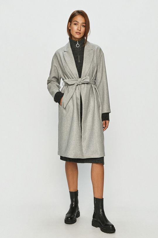 Vero Moda - Płaszcz jasny szary