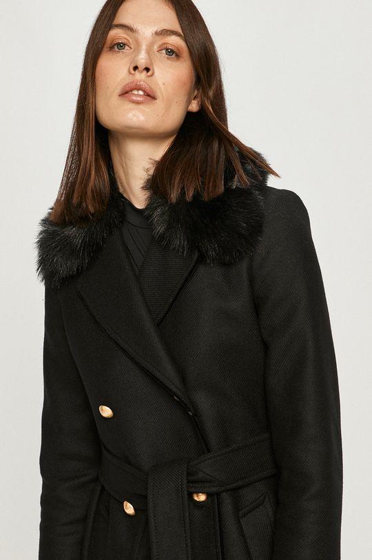 czarny Twinset - Płaszcz