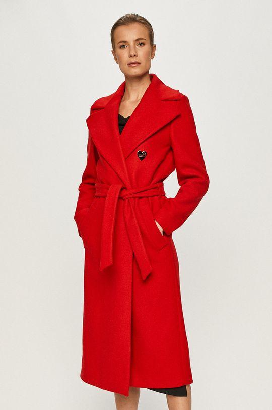 červená Love Moschino - Kabát Dámský