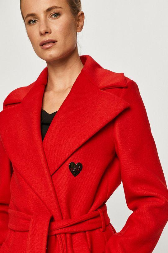 červená Love Moschino - Kabát