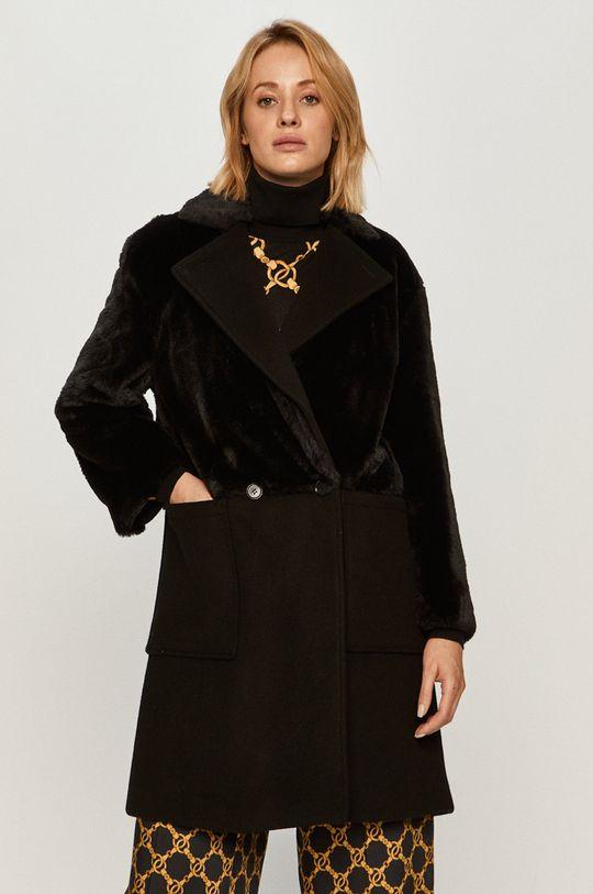 černá Stefanel - Kabát Dámský