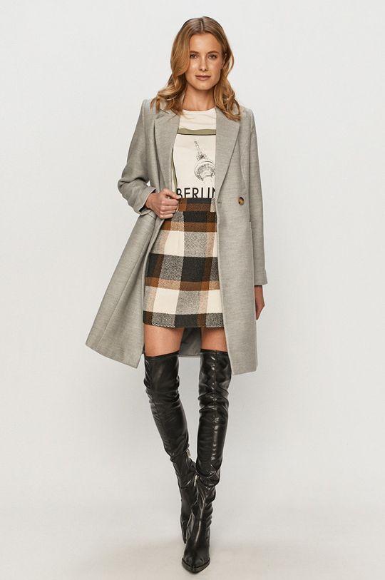 Vero Moda - Kabát svetlosivá