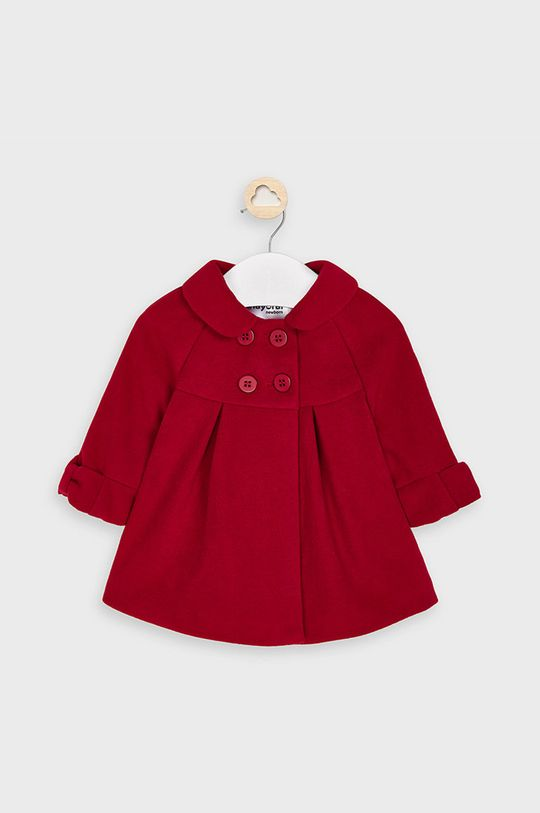 czerwony Mayoral - Płaszcz dziecięcy 65-86 cm Dziewczęcy