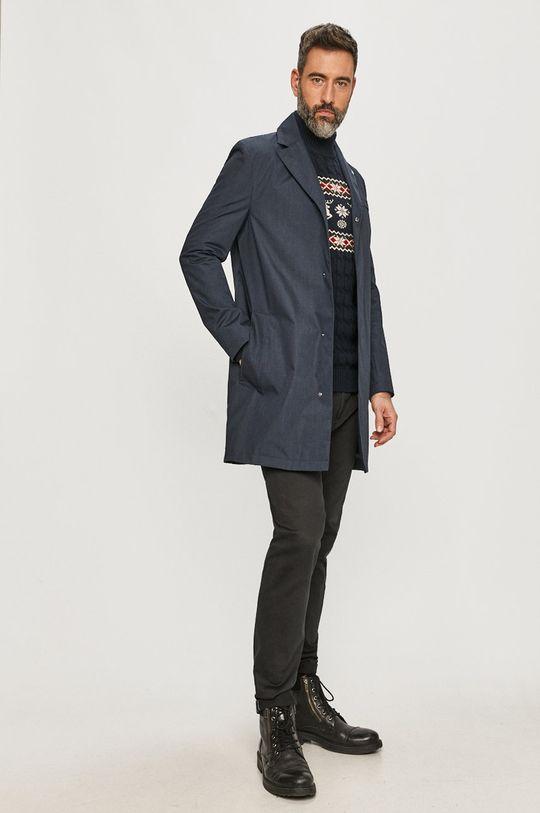 Calvin Klein - Płaszcz granatowy