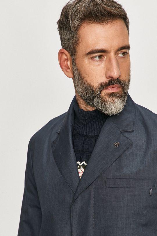 granatowy Calvin Klein - Płaszcz