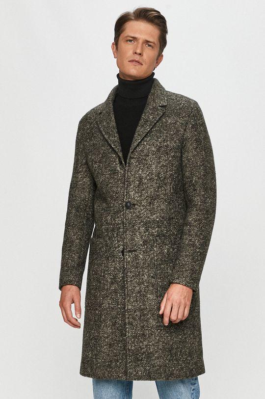 olivová Calvin Klein - Kabát Pánsky