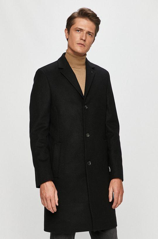 čierna Calvin Klein - Kabát Pánsky