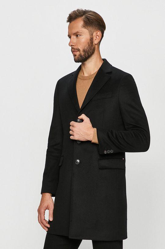 černá Tommy Hilfiger Tailored - Kabát Pánský
