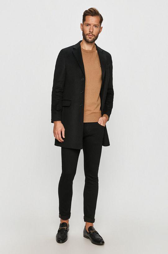Tommy Hilfiger Tailored - Kabát černá
