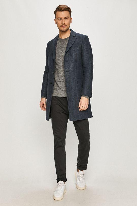 Tommy Hilfiger Tailored - Kabát námořnická modř