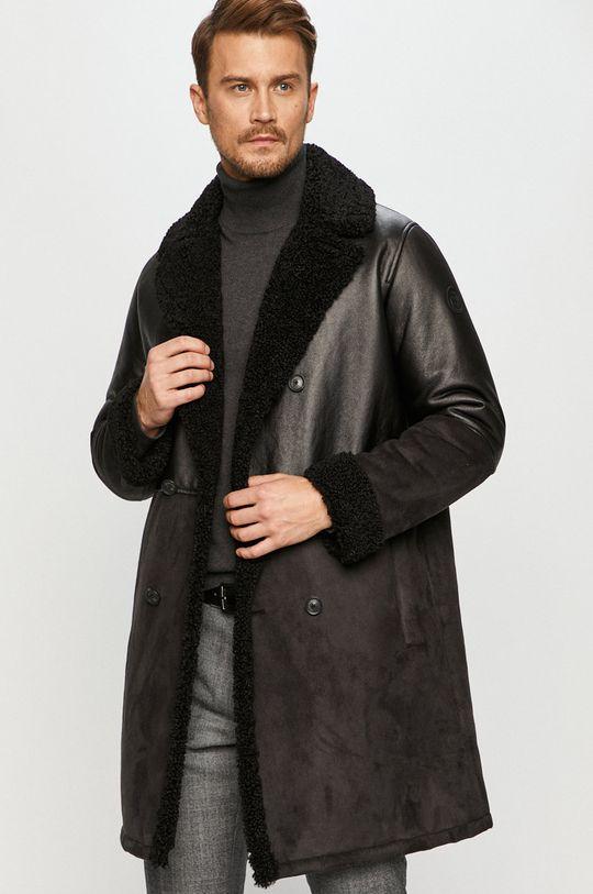 černá Trussardi Jeans - Kabát Pánský