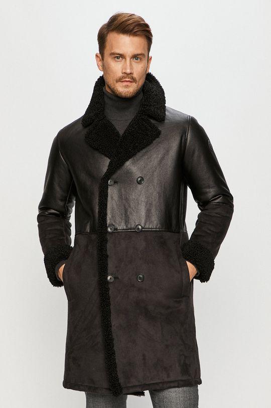 černá Trussardi Jeans - Kabát