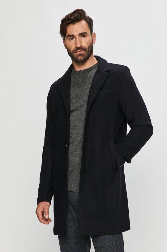 čierna Tailored & Originals - Kabát Pánsky
