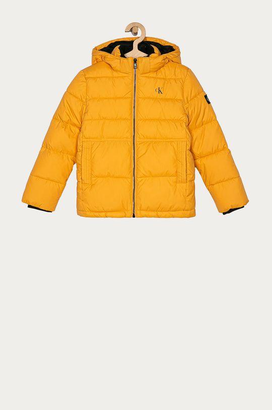 hořčicová Calvin Klein Jeans - Dětská bunda 104-176 cm Chlapecký