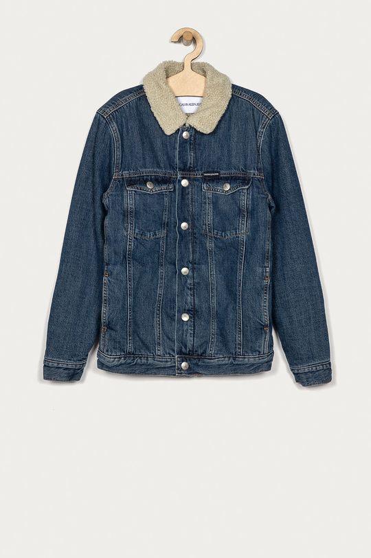 albastru Calvin Klein Jeans - Geaca de blugi pentru copii 152-176 cm De băieți
