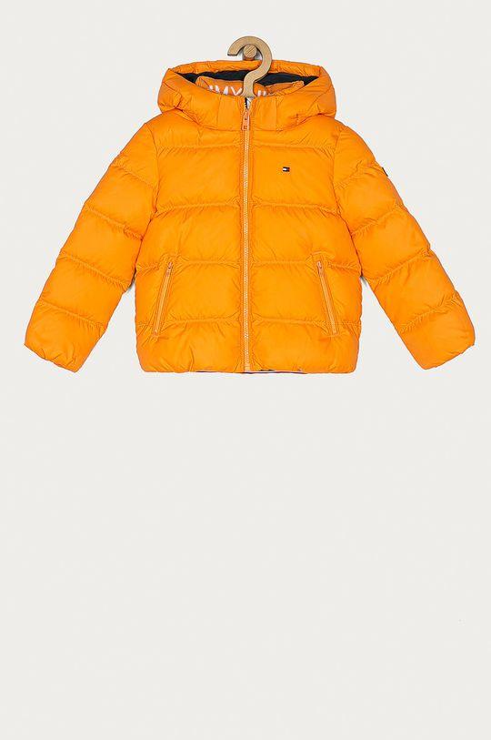 oranžová Tommy Hilfiger - Dětská péřová bunda 104-176 cm Chlapecký