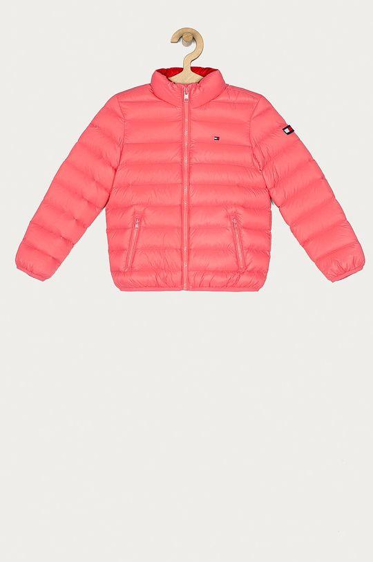 růžová Tommy Hilfiger - Dětská péřová bunda 104-176 cm Chlapecký