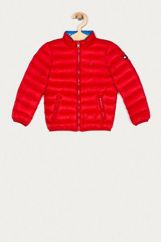 červená Tommy Hilfiger - Dětská péřová bunda 104-176 cm Chlapecký