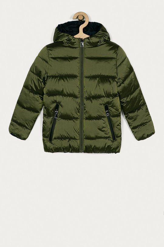 zelená OVS - Dětská oboustranná bunda 104-140 cm Chlapecký