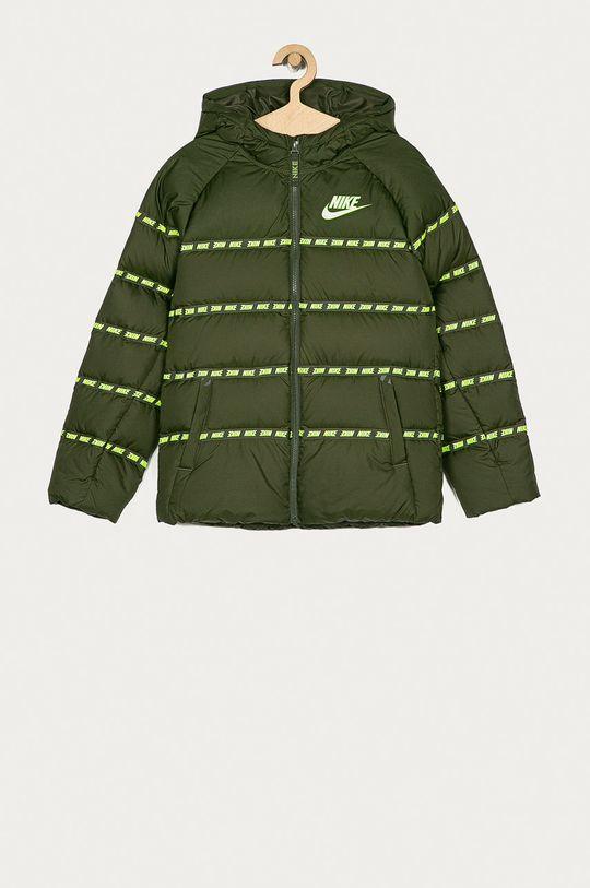 olivová Nike Kids - Dětská péřová bunda 122-170 cm Chlapecký