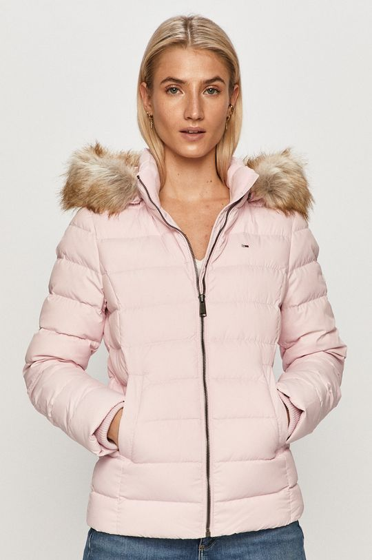 růžová Tommy Jeans - Péřová bunda Dámský