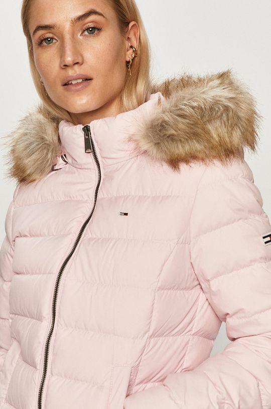 růžová Tommy Jeans - Péřová bunda