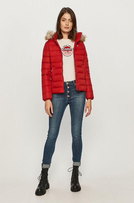 Tommy Jeans - Páperová bunda červená