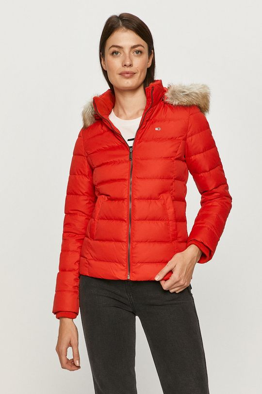 červená Tommy Jeans - Péřová bunda Dámský