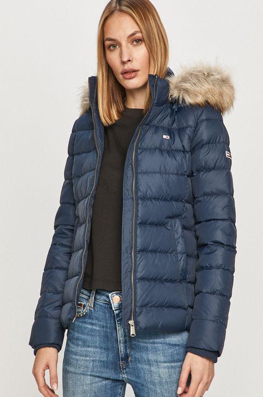 námořnická modř Tommy Jeans - Péřová bunda